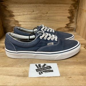 Vans off the wall low top blue white fashion sneakers shoes
